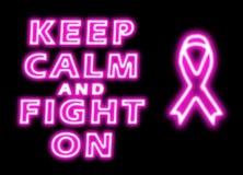 Mantenha a calma e lute-a no câncer da mama ilustração stock