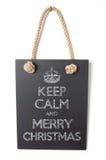 Mantenha a calma e o Feliz Natal Imagens de Stock