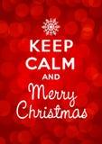 Mantenha a calma e o Feliz Natal Foto de Stock