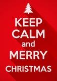 Mantenha a calma e o Feliz Natal Fundo do vetor Fotografia de Stock Royalty Free