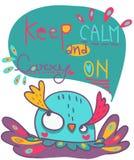 Mantenha calmo e continue a ilustração Imagens de Stock Royalty Free