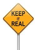 Mantenha-a conceito real. Fotos de Stock Royalty Free