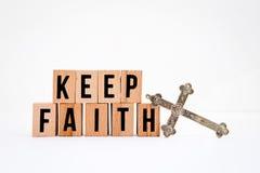 Mantenha a fé Fotos de Stock
