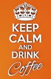 Mantenha o cartaz calmo Foto de Stock Royalty Free