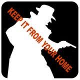 Mantenha-o de seu ícone Home Foto de Stock