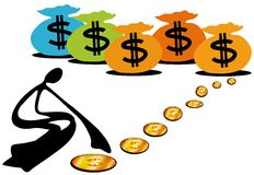 Mantenha o dinheiro Imagens de Stock Royalty Free