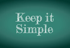 Mantenha-o mensagem simples Foto de Stock