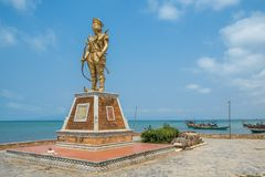 Mantenha o mercado Camboja Ásia do caranguejo da estátua Imagem de Stock Royalty Free