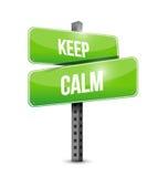 mantenha o projeto calmo da ilustração do sinal de estrada Imagens de Stock
