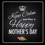 Mantenha o projeto feliz calmo do dia de mãe ilustração do vetor