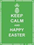 Mantenha a Páscoa calma e feliz ilustração stock