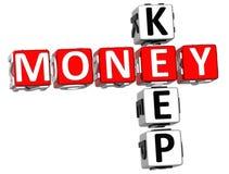 Mantenha palavras cruzadas do dinheiro ilustração royalty free