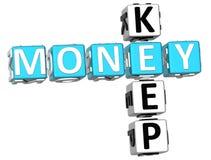 Mantenha palavras cruzadas do dinheiro ilustração do vetor