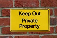 Mantenha para fora! Fotografia de Stock Royalty Free