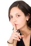 Mantenha-a secreta Fotos de Stock Royalty Free