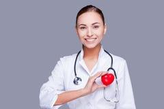 Mantenha seu coração saudável Imagens de Stock Royalty Free