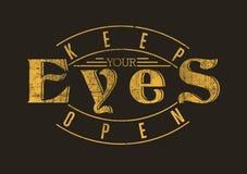 Mantenha seus olhos abertos ilustração royalty free