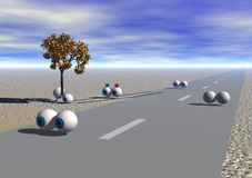 Mantenha seus olhos na estrada Fotografia de Stock