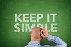 Mantenha simples no quadro-negro Foto de Stock