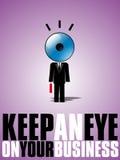 Mantenha um olho em seu negócio. Fotos de Stock