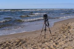 Mantenha um verão do mar da câmera Imagens de Stock