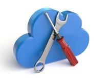 Mantenimiento computacional de la nube stock de ilustración