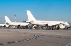 Mantenimiento de aviones Imagen de archivo libre de regalías