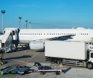 Mantenimiento de aviones Imagenes de archivo