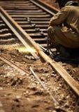 Mantenimiento del ferrocarril Fotografía de archivo