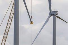 Mantenimiento del generador de viento Foto de archivo libre de regalías
