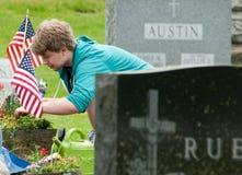 Mantenimiento del Memorial Day Imagen de archivo
