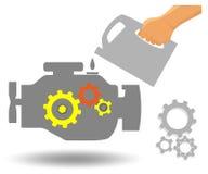 Mantenimiento del motor de coche stock de ilustración