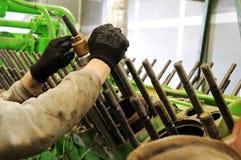 Mantenimiento del motor de gas Foto de archivo libre de regalías
