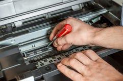 Mantenimiento y reparación de la impresora Imagen de archivo libre de regalías
