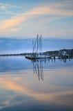 Manteo, Carolina Waterfront du nord Images libres de droits