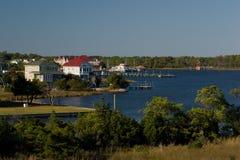 Manteo Harbor. Sumer view of Manteo North Carolina stock image