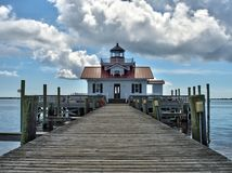 Manteo Lighthouse during the day Royalty Free Stock Photo