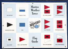 Manteo Weather Tower Flag Guide Royalty Free Stock Photo