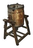 Mantequera de madera antigua Fotografía de archivo