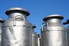 Mantequeras de leche Imagen de archivo libre de regalías