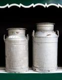 Mantequeras de leche Imagenes de archivo