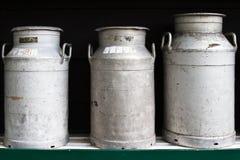 Mantequeras de leche Fotografía de archivo