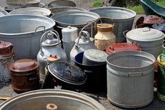 Mantequeras del mercado de pulgas Fotografía de archivo libre de regalías