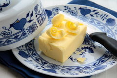 Mantequilla amarilla fresca Fotografía de archivo libre de regalías