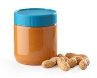 Mantequilla de cacahuete Imagen de archivo libre de regalías