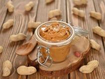 Mantequilla de cacahuete Fotos de archivo