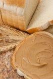 Mantequilla de cacahuete cremosa Foto de archivo libre de regalías
