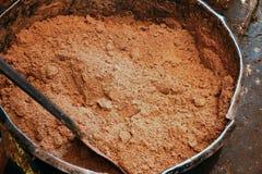 Mantequilla de cacahuete cruda antes del aceite Fotos de archivo