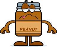 Mantequilla de cacahuete enferma de la historieta Fotografía de archivo libre de regalías