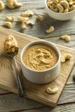 Mantequilla de cacahuete hecha en casa del anacardo fotos de archivo